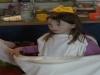 Jasmin und ihr Griechenkleid.